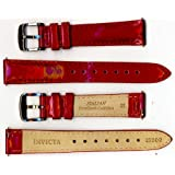 Invicta Genuine Ladies 16mm Red Pearlized Shiny Leather Watch Strap IS302