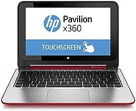 """HP Pavilion x360 11-n025nf PC portable Tactile 11,6"""" Rouge (Intel Celeron, 4 Go de RAM, Disque dur 500 Go, Mise à jour Windows 10 gratuite)"""