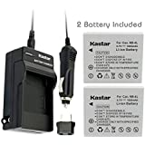 NEW Charger + 2 Battery for Canon PowerShot SD430 SD600 SD630 NB-4L NB4L + Car Plug