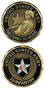 US Army 2nd Infantry Challenge Coin