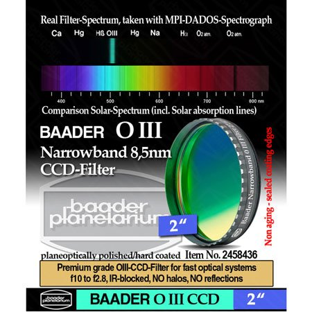 """Baader Planetarium 8.5Nm Oiii Ccd Filter, 2"""""""