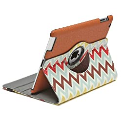 Aduro ROTATA 360 Degrees Rotating Stand Case for Apple iPad 2 /3 / 4 (Chevron Pattern) Retail Packaging