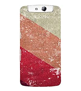 PrintVisa Colorful Stripes Pattern 3D Hard Polycarbonate Designer Back Case Cover for Oppo N1