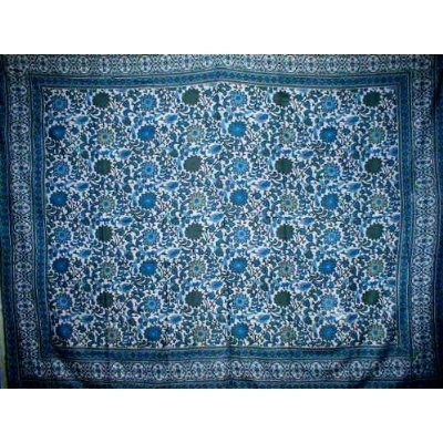 Lowest Prices! Indian Bedspread ? Cotton Sunflower Print