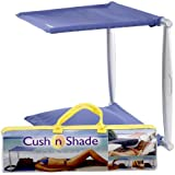 Cush n Shade Portable Sunshade and Cushion New Version Blue or Pink