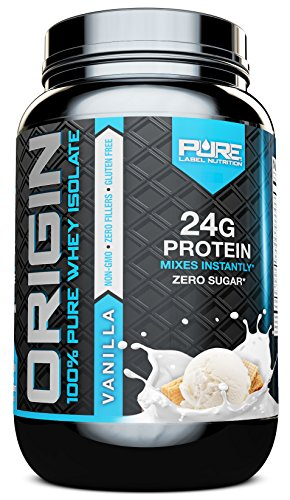 Whey Protein Isolate | Vanilla 2lb + Undenatured | Cold Processed + CFM Whey | Sugar Free + Non GMO + Gluten Free | Made from High Quality Cows | BEST Tasting Whey Protein | PURE Whey Isolate Powder