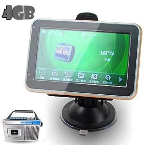 "Center One 811 4.3"" LCD Windows CE 6.0 Core BT AV GPS Navigator w/FM Transmitter + 4GB TF Memory Card"