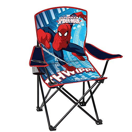 Spiderman Youth Folding Chair With Armrest And Cup Holder