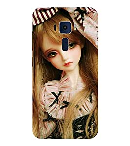 Evaluze girl Printed Back Cover for ASUS ZENFONE 3