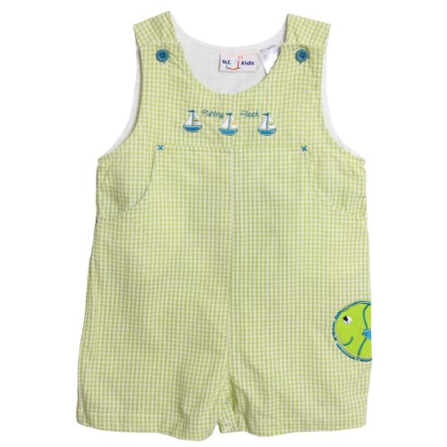BT Kids Newborn Baby Boys 1 Piece Green Gingham