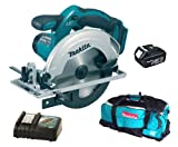 MAKITA BSS611Z 18V 165mm Cordless Circular Saw (Bare Unit) Plus BL1830 18.0V 3.0Ah Lithium-ion Battery (638409-2) - Genuine Plus DC18RC 14.4-18V Lithium-ion Battery Charger 240V Plus 831279-0 Tool Bag for LXT600