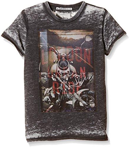 Pepe Jeans Jungen, T-Shirt, Tegan, GR. 176 (Herstellergröße: 16), Schwarz (black 999)