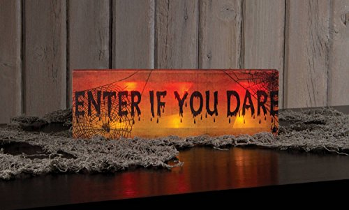 """Ohio Wholesale Enter Sign Lighted Canvas 4"""" X 12"""""""