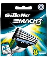 Gillette Lames de rasoir MACH3 - Pack de 8 recharges