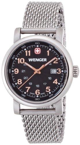 Wenger 01.1021.106 - Orologio da polso donna, acciaio inox, colore: argento