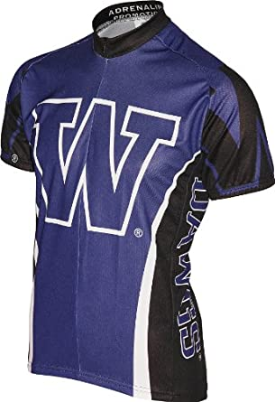Buy NCAA Washington Huskies Cycling Jersey, Purple by Adrenaline Promotions