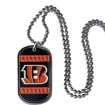 NFL Cincinnati Bengals Dog Tag Necklace