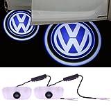 Bloomwin 2er/Pack Auto T�rbeleuchtung 3D Laser Licht T�r Licht Door Shadow LED Logo Einstiegsleuchte F�r Volkswagen/VW/Das Auto(ein Pack mit 2 Stk)