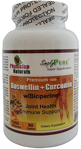 Premium 1000 Boswellin + Curcumin C3 1000 Mg - 90 Caplets