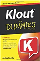 Klout For Dummies Front Cover