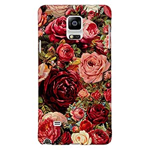 Jugaaduu Floral Pattern Back Cover Case For Samsung Galaxy Note 4