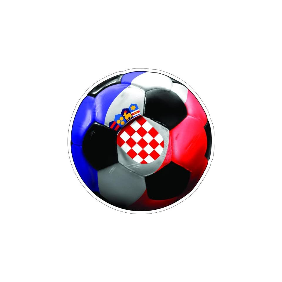 10 CROATIA SOCCER BALL Printed engineer grade reflective vinyl decal sticker for any smooth surface such as windows bumpers laptops or any smooth surface.