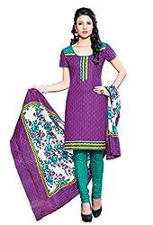 HIFI Ethnicwear Women's Dress Material PURPLE_Free Size