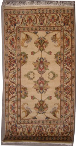3'0 x 5'1 Double Knot Pak Persian Mahal Design Area Rug with Wool Pile - | Category 3x5 Rug | Handmade Pak Persian High Quality Rugs