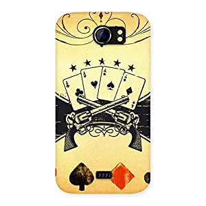 Guns And Cards Back Case Cover for Micromax Canvas 2 A110
