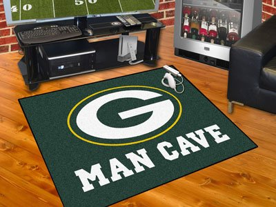 "Green Bay Packers Man Cave All-Star Rug 34""""x45"""""