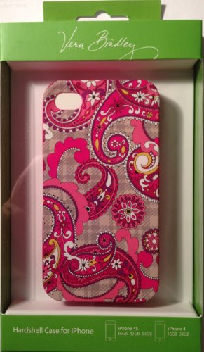 Vera Bradley Hardshell Snap-on Case Cover Paisley Meets Plaid For Apple iPhone 4S / iPhone 4