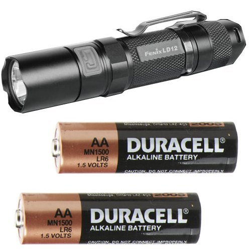 Images for Fenix LD12 XP-G R5 115 Lumen LED Flashlight Combo - Includes 2 x AA Duracell Batteries
