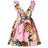 Happy Rose Little Girls Dress Beach Dress Sleeveless Flower 4