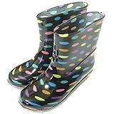 雨 の日 が楽しくなる 快適 レイン シューズ ショート ブーツ