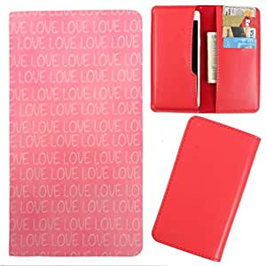DooDa - For Intex Aqua 3 Pro PU Leather Designer Fashionable Fancy Case Cover Pouch With Card & Cash Slots & Smooth Inner Velvet