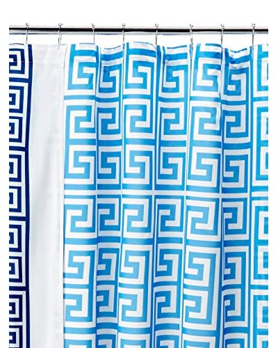 Happy Chic by Jonathan Adler Elizabeth Shower Curtain, White/Blue