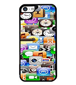 ifasho Designer Phone Back Case Cover Apple iPhone 5c ( Dark Blue Skull Ghost )