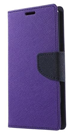 Delkart Wallet Style Flip Cover For Micromax Canvas HD A116  Purple  available at Amazon for Rs.229