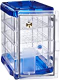 """Bel-Art Scienceware 420741006 Clear Secador 4.0 Vertical Desiccator Cabinet with Blue End Cap and 3 Shelves, 13.4"""" Width x 20.4"""" Height x 16.3"""" Depth"""