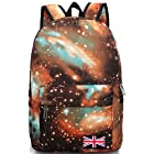 BEIER® XK6 Gold Special Galaxy Flag Backpack Men and women Fashion Schoolbag
