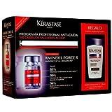 KERASTASE Specifique Aminexil Force R 30 x 6ml + Bain Stimuliste GL 250 ml - Anti Hair Loss Treatment for Fine Hair
