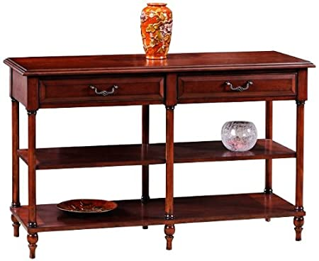 Leick Furniture Claridge Collection Cherry Tier Sofa Table, Burnished Russet