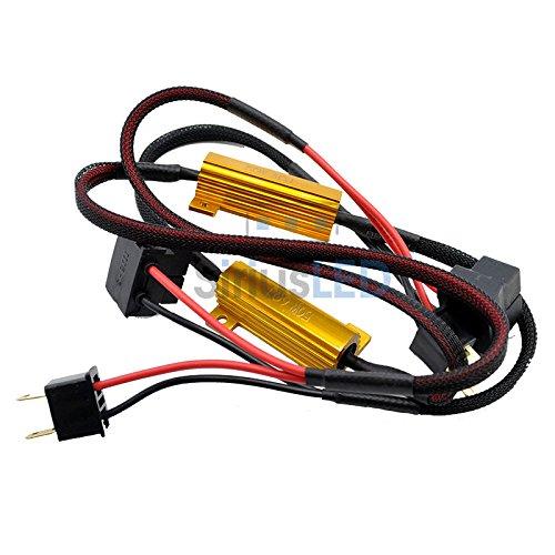2X H7 50W Load Resistors For Led Fog Light Drl Error Cancellation Canbus