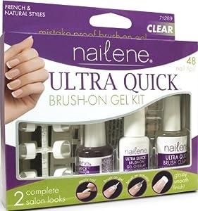 Nailene Ultra Quick Brush-on Gel Clear 71289 Kit, 1 Kt