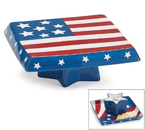 Patriotic Chip/Dip/Cake Plate Combo