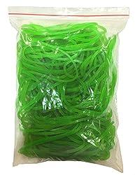 Flexi Rubber Bands Green - 3 inch Diameter - 100 pcs