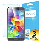 Spigen® [Full HD] Samsung Galaxy S5 Screen Protector [Crystal Clear][3-PACK]**JAPANESE BASE PET FILM** [LIFETIME WARRANTY] High Definition (HD) Premium Ultra Clear Front Screen Protector for Galaxy S5 / Galaxy SV / Galaxy S V (2014) - Crystal CR (SGP10722)