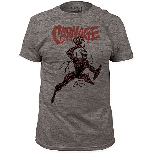 Carnage - Mens Action Pose Fitted T-Shirt, Medium, Heather Tri-Blend