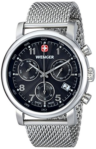 Wenger Men'S 01.1043.102 Urban Classic Chrono Analog Display Swiss Quartz Silver Watch