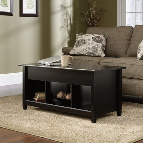 Sauder Edge Water Lift-Top Coffee Table, Estate Black Finish image